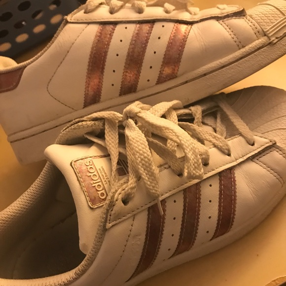 girl adidas sneakers gold